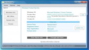 Retrieved Windows product key